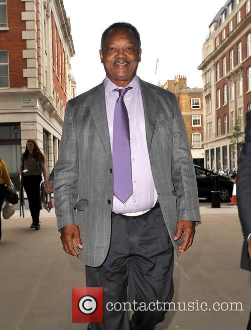 Jesse Jackson Arriving at the BBC