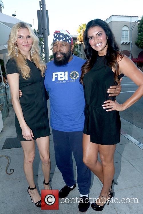 Brandi Glanville and Mr. T. 2