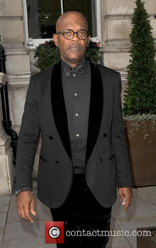 Samuel L Jackson leaving his hotel