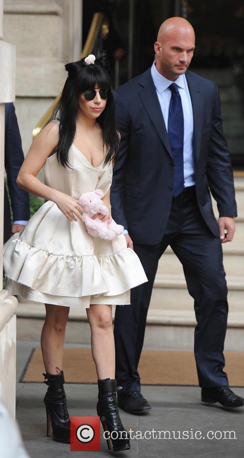 Lady Gaga seen leaving her hotel