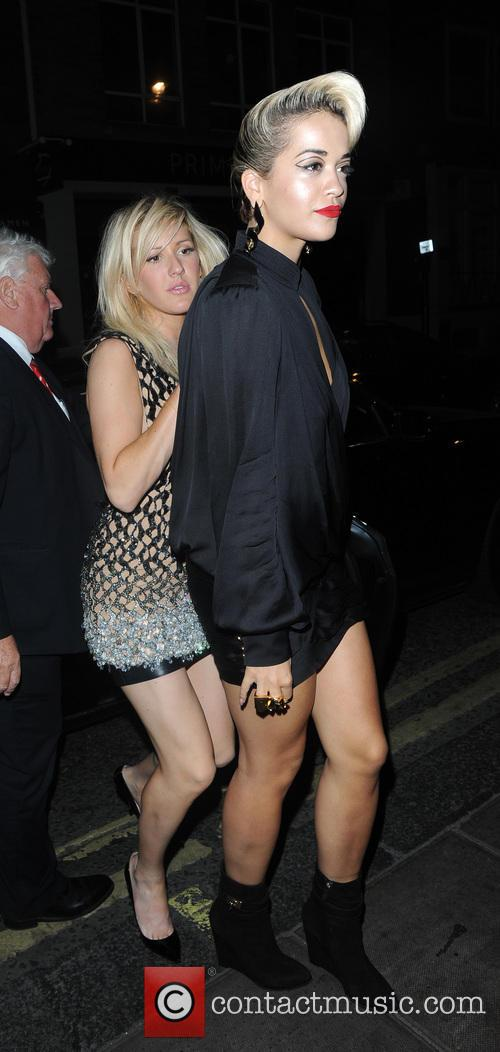 Rita Ora and Ellie Goulding Party