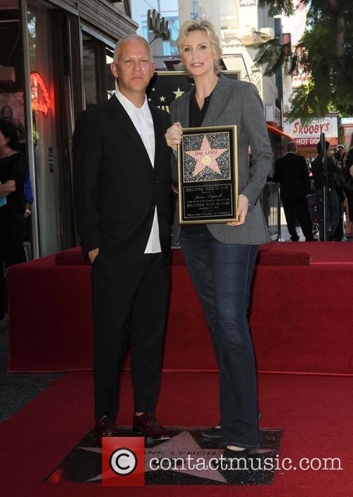 Ryan Murphy and Jane Lynch 4