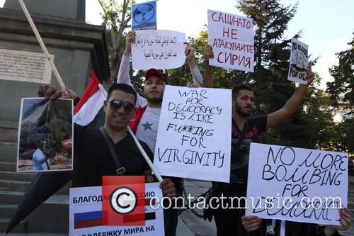 Bulgaria Syrian Immigrants Protest 3