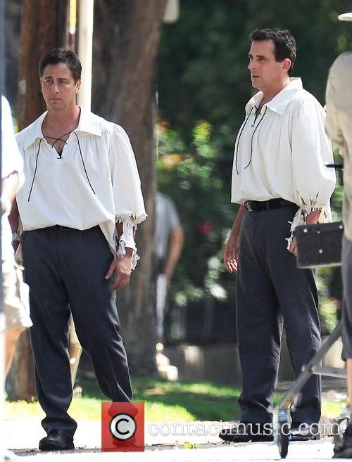 Steve Carell getting into shape for the next scene