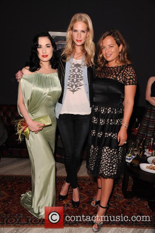 Poppy Delevigne, Dita Von Teese and Jade Jagger 2