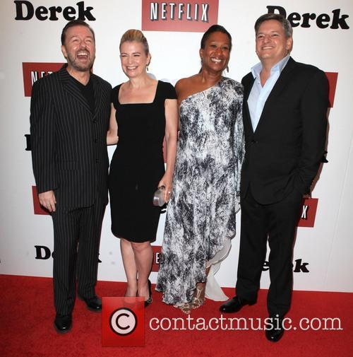 Ricky Gervais, Jane Fallon, Nicole Avant and Ted Sarandos 10