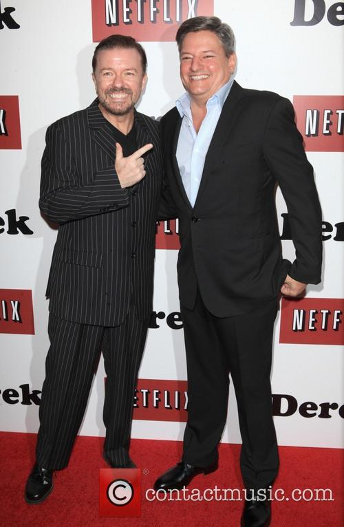 Ricky Gervais and Ted Sarandos 2
