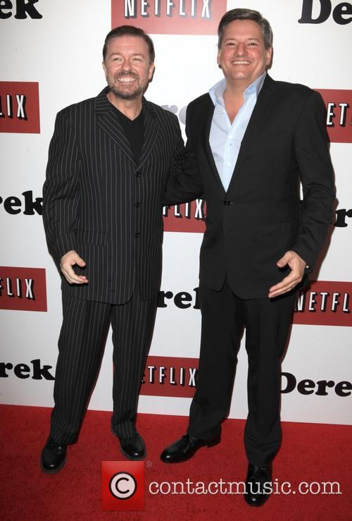 Ricky Gervais and Ted Sarandos 9