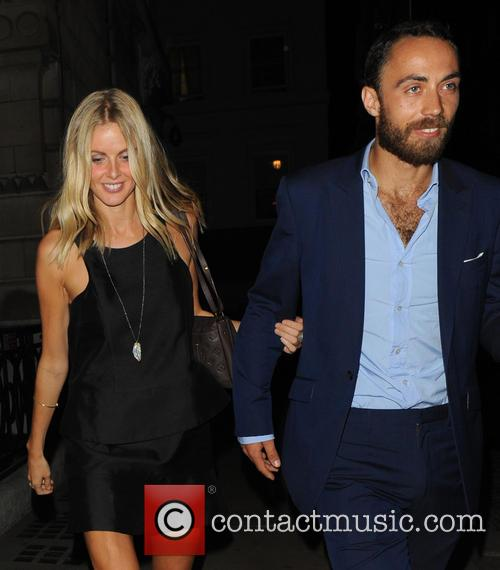 Donna Air And James Middleton At Restaurant