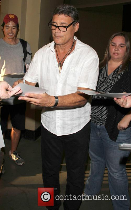 Steven Bauer shops at the Hollywood Highland Center