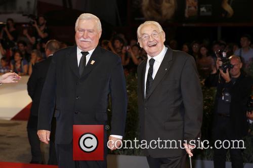Lech Walesa and Andrzej Wajda