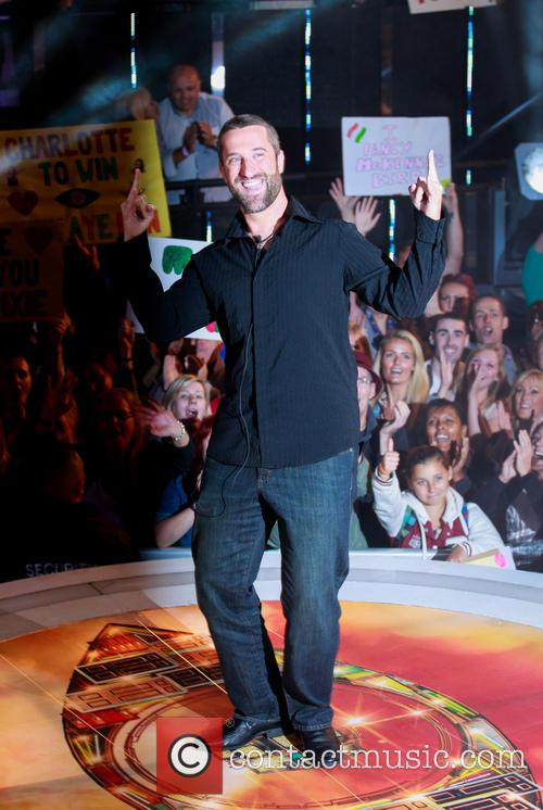 Dustin Diamond outside the Celebrity Big Brother house