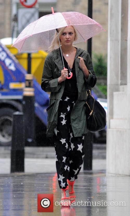 Fearne Cotton arriving at BBC Radio 1