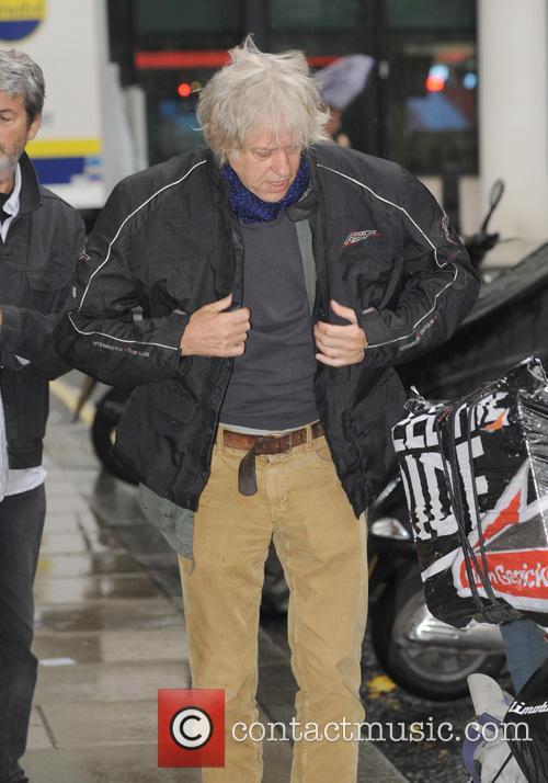 Bob Geldof leaving the BBC studios