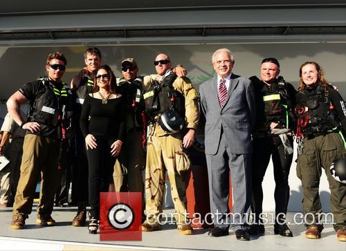 Gloria Estefan, Mayor Tomas Regalado and Teams Of Us Special Operations Warriors 9