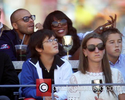 Celebrities attend the Women's semi-finals match between Serena Williams vs. Na Li