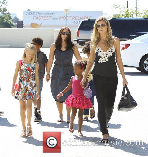 Heidi Klum goes shopping with her children