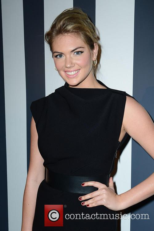 Kate Upton Backstage at The Fashion Media Awards
