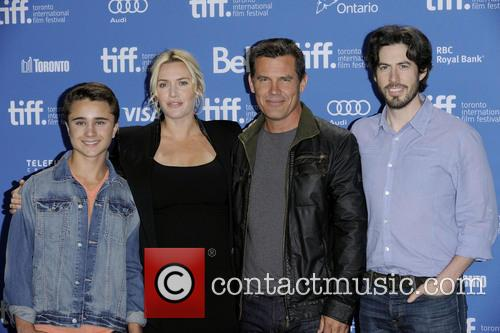 Gattlin Griffith, Kate Winslet, Josh Brolin and Jason Reitman 2