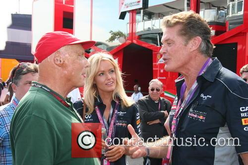 Niki Lauda, Hayley Roberts and David Hasselhof - 2