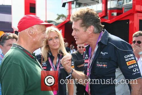 Niki Lauda, Hayley Roberts and David Hasselhof - 1