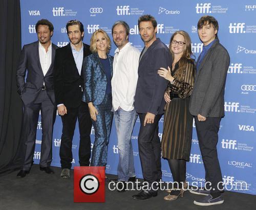 Terrence Howard, Jake Gyllenhaal, Hugh Jackman, Maria Bello, Denis Villeneuve, Paul Dano and Melissa Leo