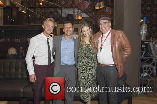 Tom Felton, Pete Shilaimon, Elizabeth Olsen and William Horberg 3