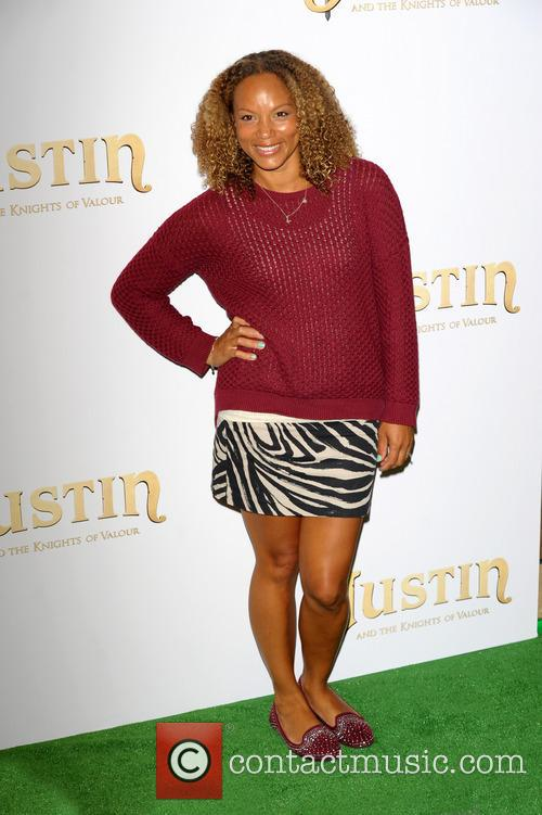 angela griffin uk premiere of justin and 3855857