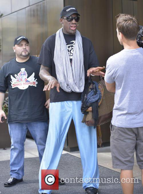 Dennis Rodman back in New York City