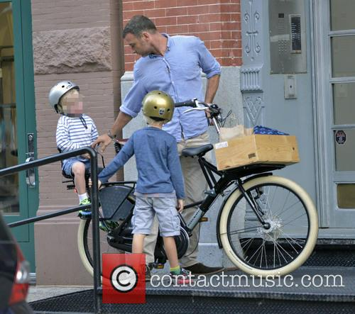 Liev Schreiber Out Cycling