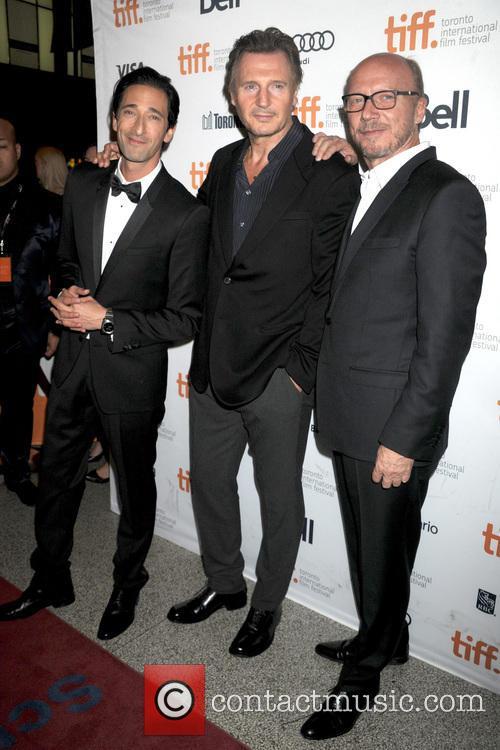 Adrien Brody, Liam Neeson and Paul Haggis 8