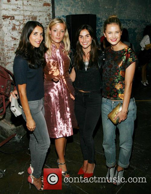 Jodie Snyder, Kate Foley, Danielle Snyder, Kylie Kuhn, New York Fashion Week
