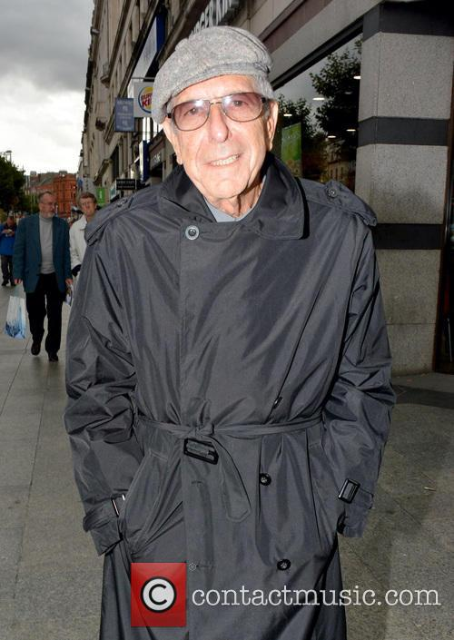 Leonard Cohen seen leaving Madigans Bar