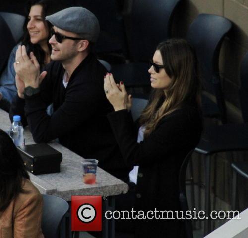 Justin Timberlake, Jessica Biel, Billie Jean King National Tennis Center  US Open