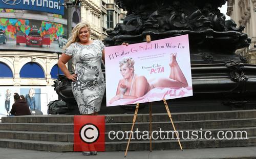 Gemma Collins unveils a new Peta campaign