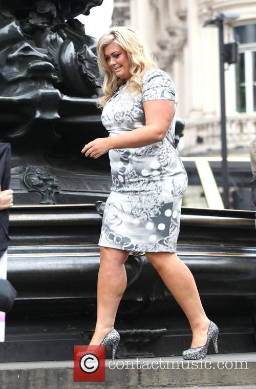 Gemma Collins unveils a new Peta campaign in Piccadilly Circus