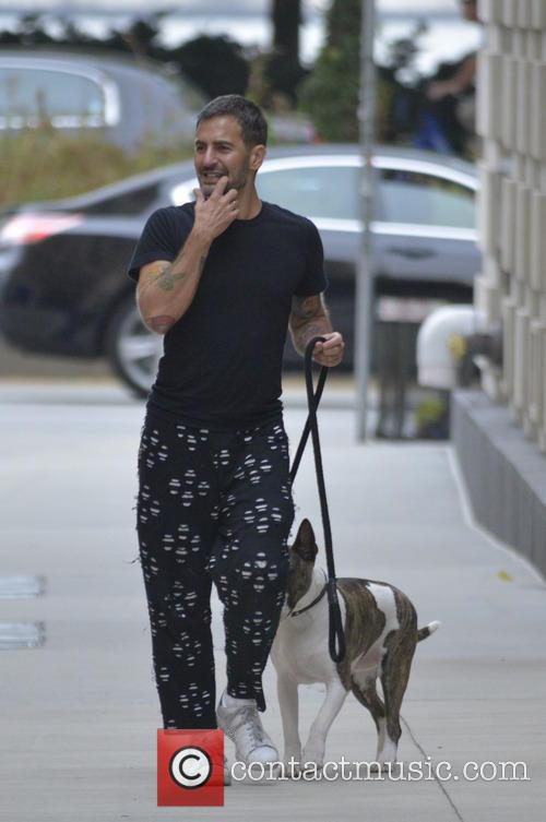 Marc Jacobs out walking his dog