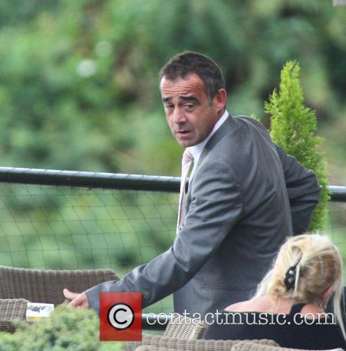 Michael Le Vell celebrates after been cleared of...