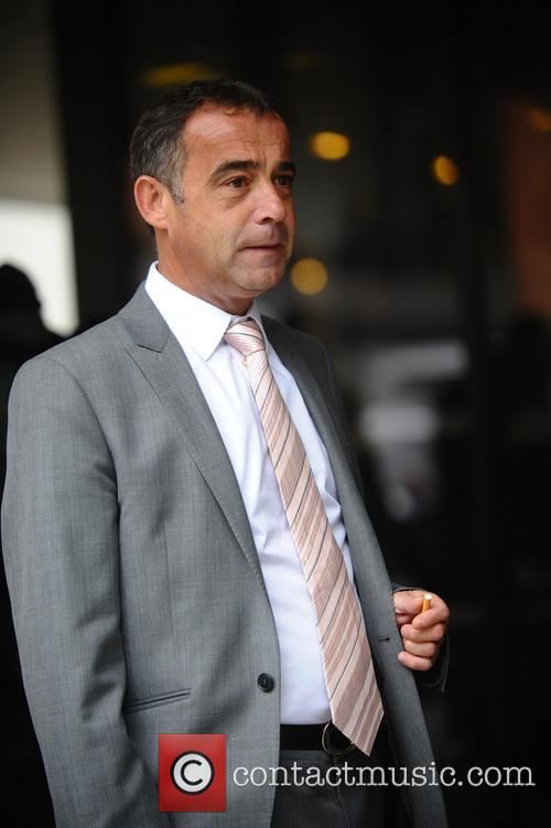 Michael Le Vell celebrates after been cleared of rape