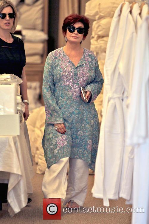 Sharon Osbourne Shopping In Beverly Hills