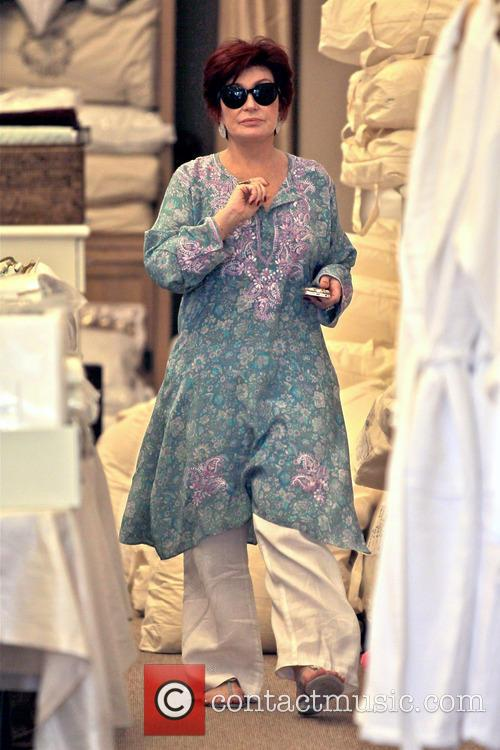 Sharon Osbourne Shopping In Beverly Hills