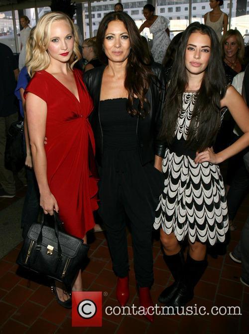 Candice Accola, Catherine Malandrino and Chloe Bridges 3