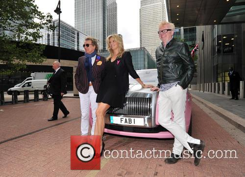 Rod Stewart, Penny Lancaster and Chris Evans 1