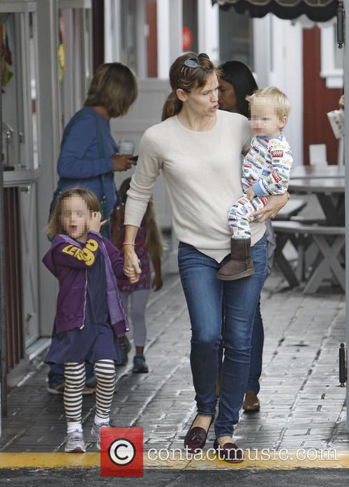 Jennifer Garner, Seraphina Affleck and Samuel Affleck 3