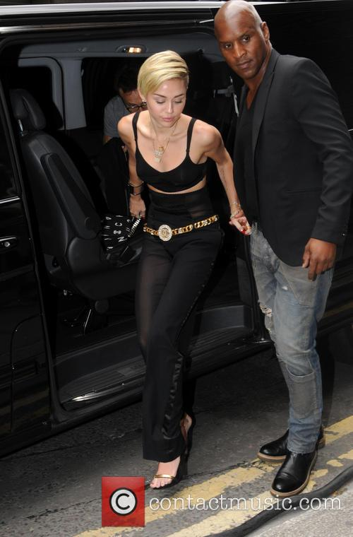 Miley Cyrus spotted in London