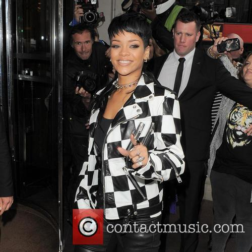 Rihanna arriving at her London hotel