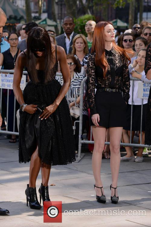 Naomi Campbell, Lydia Hearst, Bryant Park