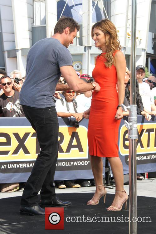 Hugh Jackman and Maria Menounos 2