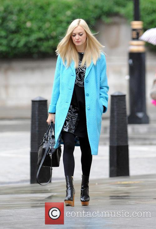 Fearne Cotton arriving at the BBC