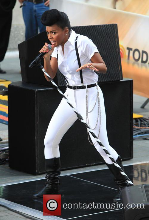 Janelle Monae performs live during NBC's 2013 Toyota...